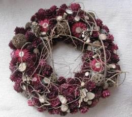 Obrázek výrobku: Vánoční věneček se sušenými květy