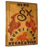 Výrobek: Originální kožené desky na jídelní lístek