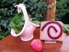 Výrobek: Rostlinné glycerinové mýdlo - jahoda ve smetaně
