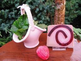 Obrázek výrobku: Rostlinné glycerinové mýdlo - jahoda ve smetaně