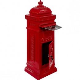 Obrázek výrobku: Poštovní schránka starožitná antik - červená