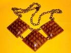 Výrobek: Metalické čtverce - náhrdelník