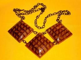 Obrázek výrobku: Metalické čtverce - náhrdelník