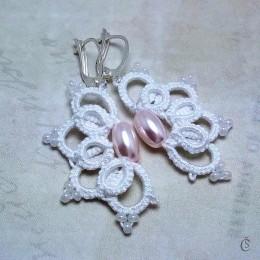 Obrázek výrobku: Originální Náušničky s růžovými perlami