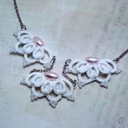 Obrázek výrobku: Originální Náhrdelník s růžovými perlami