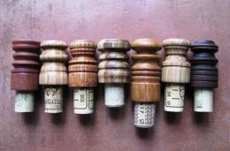 Obrázek výrobku: Zátky s dřevěnými madly - dřevo + korek