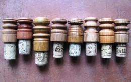 Obrázek výrobku: Zátky s dřevěnými madly2 - dřevo + korek