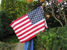 Obrázek výrobku: Americká vlajka - ručně vyšívaná