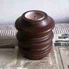 Výrobek: Dřevěný soustružený svícen - soudek