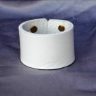 Výrobek: Kožený náramek jednoduchý - bílý