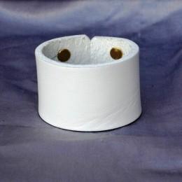 Obrázek výrobku: Kožený náramek jednoduchý - bílý