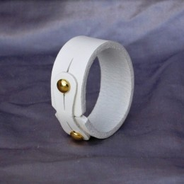 Obrázek výrobku: Kožený náramek jednoduchý, úzký, bílý