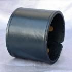 Výrobek: Kožený náramek, široký, barva černá