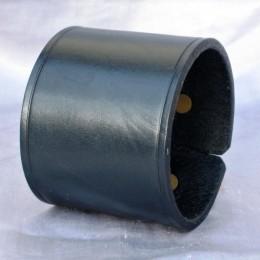 Obrázek výrobku: Kožený náramek, široký, barva černá