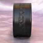 Výrobek: Kožený náramek ručně řezaný, černý