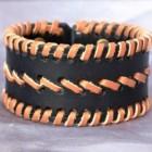 Výrobek: Ručně řezaný a šitý kožený náramek 5