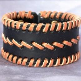 Obrázek výrobku: Ručně řezaný a šitý kožený náramek 5