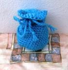 Výrobek: Pytlíček pro štěstí - na cokoliv - modrý