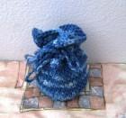 Výrobek: Patlíček pro štěstí -  na cokoliv - modrý melír