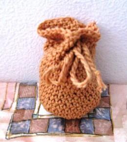 Obrázek výrobku: Pytlíček pro štěstí - na cokoliv - oranžový