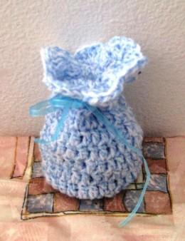 Obrázek výrobku: Pytlíček pro štěstí - na cokoliv - světle modrý melír