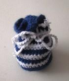 Výrobek: Pytlíček pro štěstí - na cokoliv - pruhovaný - modrobílý