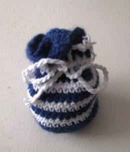 Obrázek výrobku: Pytlíček pro štěstí - na cokoliv - pruhovaný - modrobílý