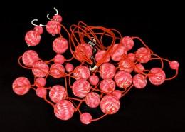 Obrázek výrobku: Červenovanilkové korále s náušnicemi
