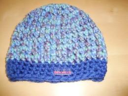 Obrázek výrobku: Dětská háčkovaná čepice2 - modrý melír