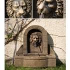 Výrobek: Zahradní kašna - fontána lví hlava 50 x 54 x 29 cm