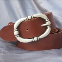 Obrázek výrobku: Kožený dámský opasek - TRITON - bnědá