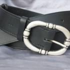 Výrobek: Kožený dámský opasek - TRITON - barva černá