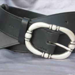 Obrázek výrobku: Kožený dámský opasek - TRITON - barva černá