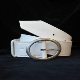 Obrázek výrobku: Kožený dámský opasek THEIA - barva bílá