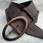 Výrobek: Luxusní dámský kožený opasek - FORTUNA - hnědá patina
