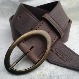 Obrázek výrobku: Luxusní dámský kožený opasek - FORTUNA - hnědá patina