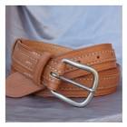 Výrobek: Luxusní dámský kožený opasek - AURORA - barva přírodní
