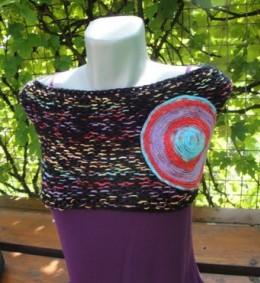 Obrázek výrobku: Pestrobarevný nákrčník - pelerína