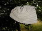 Výrobek: Bílý ručně pletený nákrčník