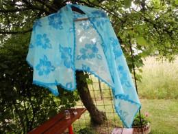 Obrázek výrobku: Letní bavlněný šátek - barva modrá