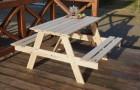 Výrobek: Zahradní dřevěný set PIKNIK 120 cm přírodní