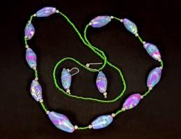 Obrázek výrobku: Fialovozelené korále