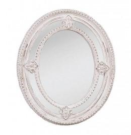 Obrázek výrobku: Zrcadlo oválné s dekorem a patinou 2 - VINTAGE STYLE