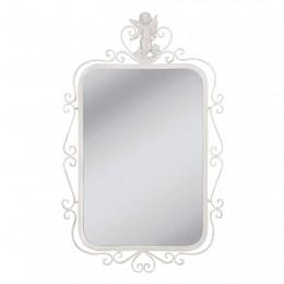Obrázek výrobku: Zrcadlo s dekorem v kovovém rámu - 51*82 cm - VINTAGE STYLE