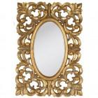 Výrobek: Zrcadlo oválné, se zlatým rámem z ornamentů  - VINTAGE STYLE