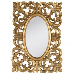 Obrázek výrobku: Zrcadlo oválné, se zlatým rámem z ornamentů  - VINTAGE STYLE