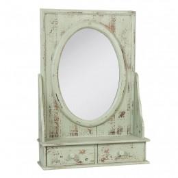 Obrázek výrobku: Zrcadlo s poličlou / 2 šuplíky - 42*60*14 cm - VINTAGE STYLE