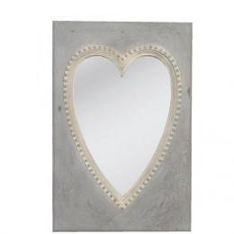 Obrázek výrobku: Zrcadlo s dekorem srdce - 27*41 cm - VINTAGE STYLE