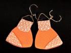 Výrobek: Hnědobílé trojúhelníky