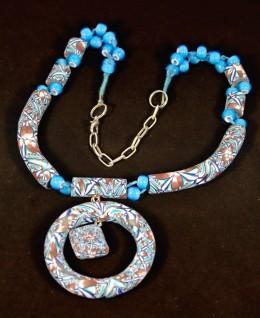 Obrázek výrobku: Modrobílý oblouk s přívěskem